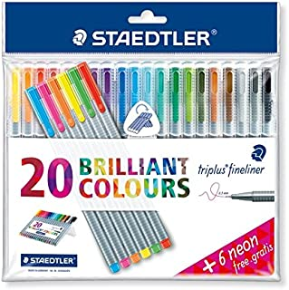 Caneta Triplus Fineliner Staedtler 26 cores