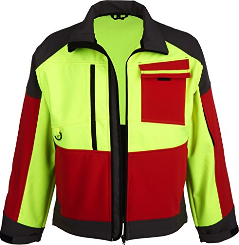 Watex Forst Softshell Jacke Forest Jack RED (4XL, gelb-rot-grau)