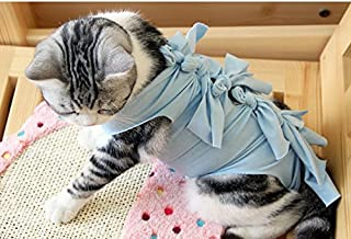 BRZM Stylish and Breathable Pet Clothes Spring and Summer Simple Style Dog Cat Cotton Vest Grey S