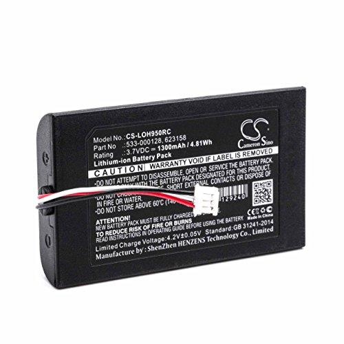 vhbw Akku Ersatz für Logitech 533-000128, 623158 für Fernbedienung Remote Control (1300mAh, 3,7V, Li-Ion)