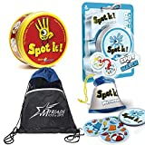 Asmodee Spot It and Spot It Splash Party Games with Myriads Drawstring Bag