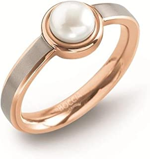 Boccia 女士钛白珍珠时尚戒指