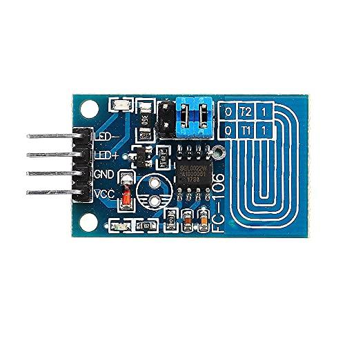 YEZIB Accesorios electrónicos de Bricolaje, Interruptor Dimmer LED Módulo Dimmer táctil capacitiva presión Constante sin Pasos de atenuación Panel de Control Tipo de Kit de Bricolaje 10pcs
