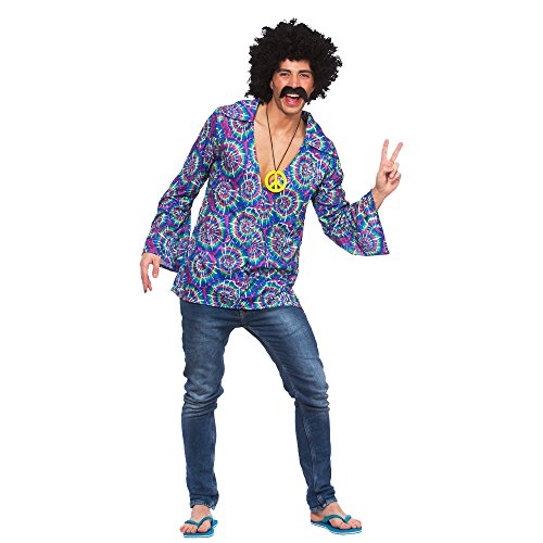 Funky Hippie Shirt - Adult Accessory Men : X LARGE