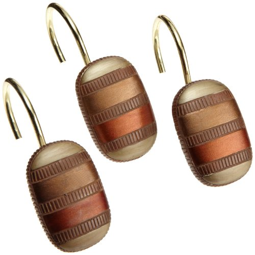 Popular Bath 343854 CONTEMPO, Shower Curtain Hooks, Spice