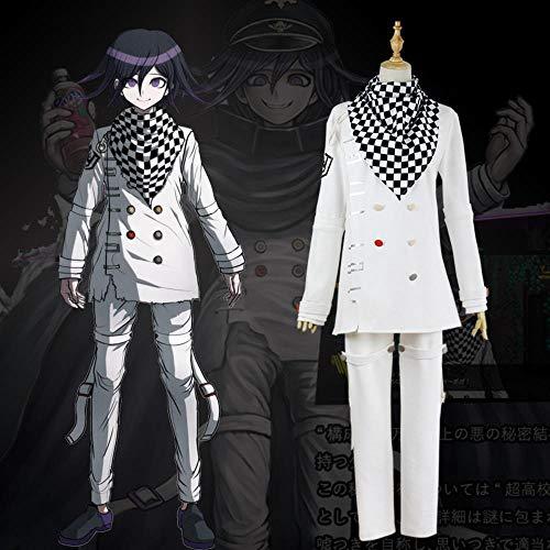hengGuKeJiYo Benutzerdefinierte Neue Danganronpa V3 Cosplay Ouma Kokichi Cosplay Anime Spiel Schuluniform Anzug Outfit Mantel + Pants + Schal