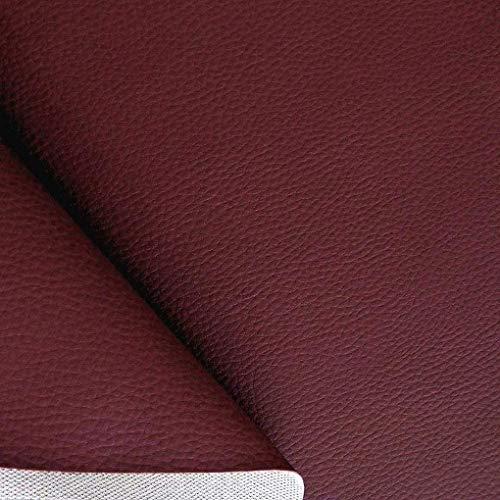 hochwertiges Kunstleder in Bordeaux - als Polster-Stoff/Sitzbezug für den Innenbereich - anschmiegsam abriebfest pflegeleicht