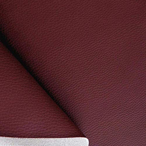 TOLKO Lederimitat mit Rindsleder Optik | weiche PREMIUM Meterware | für Stuhl Bank Sessel Sofa Sitzbezug 140cm breit | Kunstleder Bezugstoff Polsterstoff Polsterbezug Möbelstoff (Bordeaux)