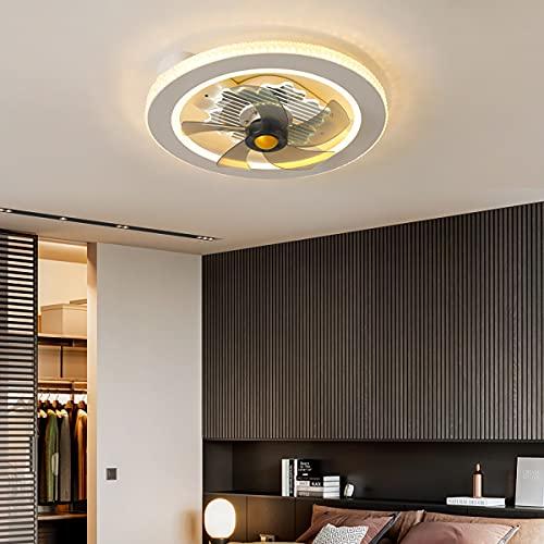 Ventilador De Techo Invisible Luz Ventilador Techo Con Mando Luces Led Plafon Led Techo Regulable Iluminación Interior Velocidad Del Viento Ajustable Dormitorio Lámpara Decorativa