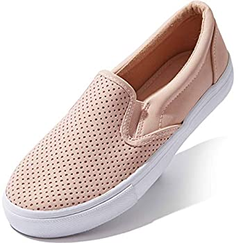 DailyShoes Shoes Sneakers Low Top Slip On Shoe Loafer Classic Office Lady Closed with Metallic Casual Slip-on Loafers Shoes Mauve,pu,8