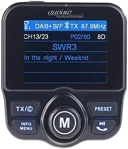 auvisio DAB Auto: DAB+/DAB-Empfänger, FM-Transmitter, Bluetooth, Freisprecher, MP3, USB (Kfz DAB Empfänger)
