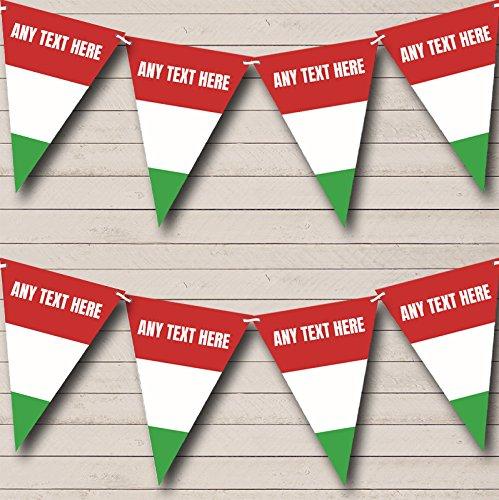 Partij Banner Bunting Hongaarse Vlag Hongarije Gepersonaliseerde Verjaardag Small