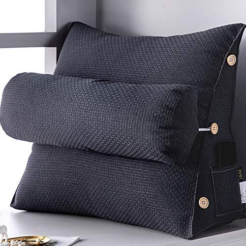 Keilkissen Für Bett Und Sofa | Rückenstütze | Nackenkissen | Lesekissen | Das Perfekte Couch Kissen Für Ihr Zuhause,D-58X22X50CM