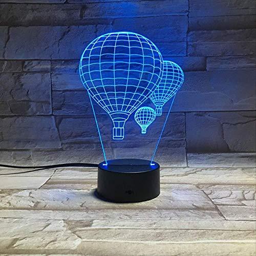 3D illusie nachtlampje bluetooth Smart Control 7 & 16 M kleur mobiele app LED Vision dubbeldeck bus USB slaapkamer nachtsfeer, kleurrijk creatief cadeau