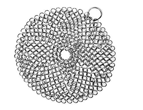 Topfbürste Rostfreier Stahl Reinigungsbürste für Gusseisen Pfannen Skillet Wok Pot 7 inch