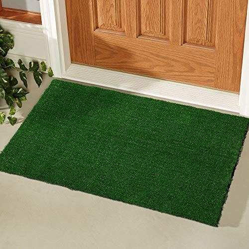 Ottomanson Evergreen Collection Indoor/Outdoor Turf Solid Design Doormat,20'X30'