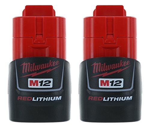 Milwaukee (2-pack) 48-11-2401 M12 RED Li-Ion Battery Packs