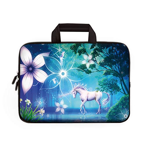 "11"" 11.6"" 12"" 12.1"" 12.5"" inch Laptop Carrying Bag Chromebook Case Notebook Ultrabook Bag Tablet Cover Neoprene Fit Samsung Google Acer HP DELL Lenovo Asus (11 11.6 12.1 12.2 inch, Cute Unicorn)"
