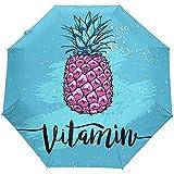 La Vitamine 3 d'ananas Rose Se Plie Le Parapluie Anti-UV de Fermeture Automatique