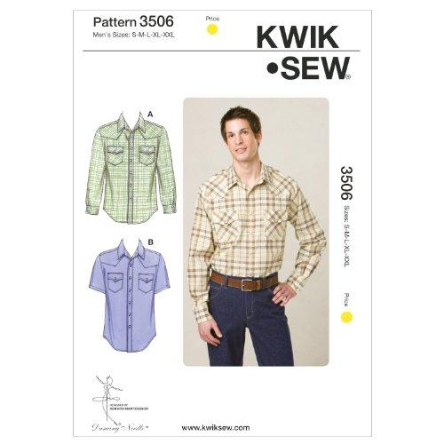 Kwik Sew K3506 Shirts Sewing Pattern, Size S-M-L-XL-XXL