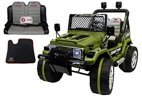 Mondial Toys Auto ELETTRICA 12V Drifter 2 POSTI per Bambini con Telecomando...
