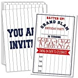 3rd Birthday Party Invitations with Envelopes – Batter Up Baseball Party Invitations, Baseball Party Decorations– 20 Cards With Envelopes(bq-03)