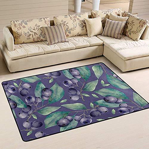 Fun-World Area Rug Tapis bleuets Tapis Moderne coloré pour Salon Chambre à Coucher Tapis de Chambre de bébé Lavable en Machine,150X100Cm