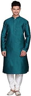 Royal Men's Traditional Teal Ethnic Wear Churidar Kurta Pajama Cultural Dress
