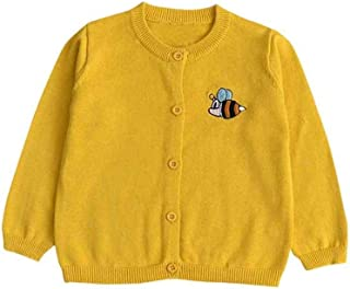 Unparalleled beauty Infant Baby Toddler Boy Girl Knitted Sweater Colorful Bees Embroidery