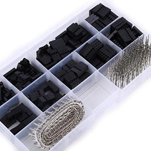 Kit de conector de carcasa 610 Uds Kit de conector de carcasa de 2,54 MM Terminal macho hembra Cable de puente Pin de crimpado 250 V 3A
