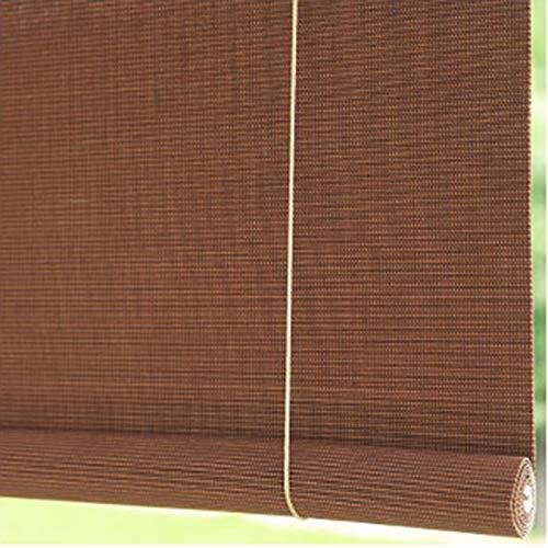 HYDT Store en bambou Fensterrollos für Küche Wohnzimmer, 95% Verdunkelungsrollos mit Armaturen, Decken- oder Wandmontage, 55/75/95/115/135 cm Breit (Size : 55×110cm/21.7×43.3in)