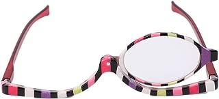 hibyebuying 1 Pair Reading Glasses Readers, Magnifying Glasses Makeup Cosmetic Reading Glass Folding Eyeglasses +1.0~+4.0 (+2.5)