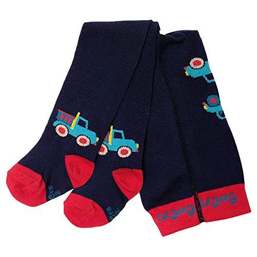 Ewers Baby- und Kinderstrumpfhose für Jungen Auto, Made in Europe, Strumpfhose Baumwolle