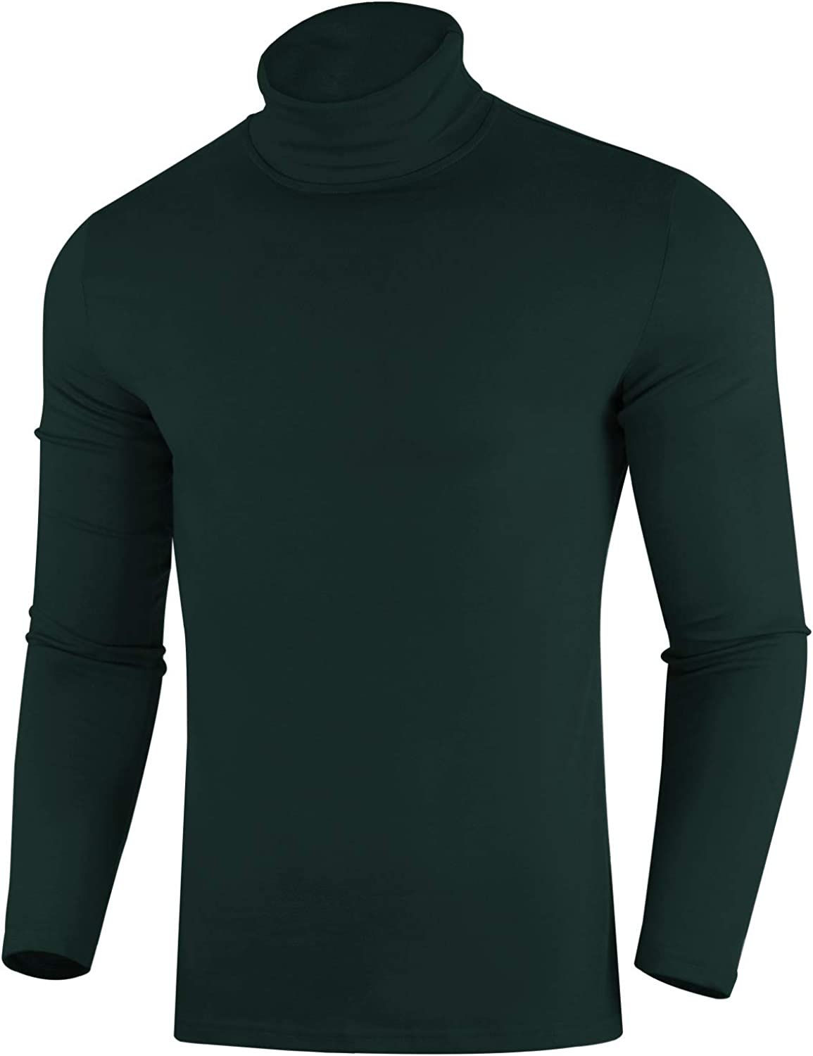 ZIOLOMA Mens Casual Slim Fit Pullover Sweaters Long Sleeve Knitted Turtleneck