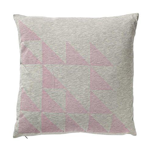 Bloomingville kussen grijs/roze print