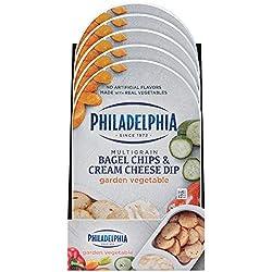 Philadelphia Multigrain Bagel Chips & Garden Vegetable Cream Cheese Dip (2.5 oz Tub)