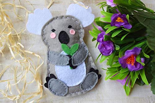 Koala Koalabär Baby Rassel Spielzeug Filz Kinderzimmer Dekor Beißring Kleinkind Spielzeug Australien Geschenk Waldtier Aktivität Spielen Gefüllte Babyparty Australische Tiere