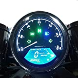 SAMDO Universal Motorcycle Speedometer 12000 RPM LCD Digital Speedometer Odometer Tachometer 199 Kmh for 1,2,4 Cylinders