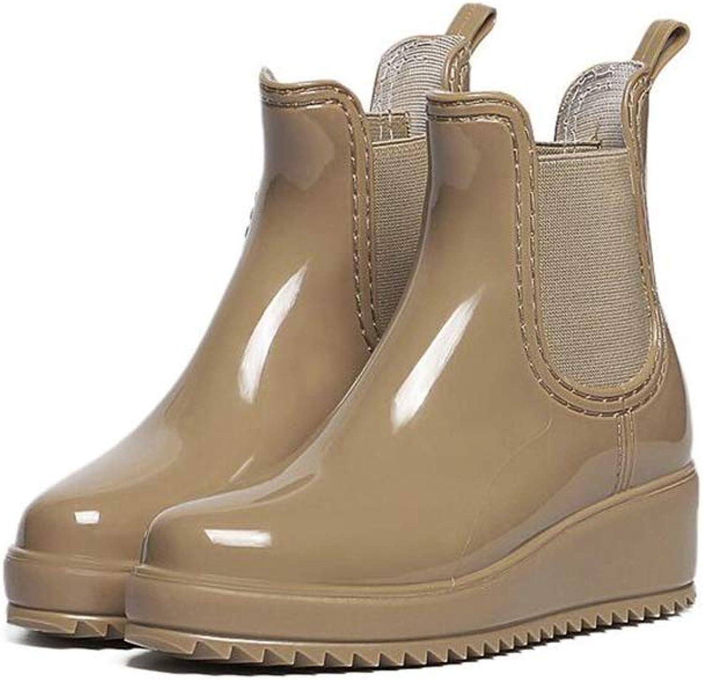Anti-Slip Ladies' Rain Boots Chelsea Boots Fashion Rain shoes Elastic Type shoes Women's Boots