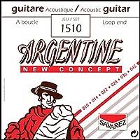 サバレス アコースティックギター弦 ジャズギター弦 ジプシーギター用 SAVAREZ ARGENTINE JAZZ STRINGS (1510 Loop End,Extra Light, 1セット)
