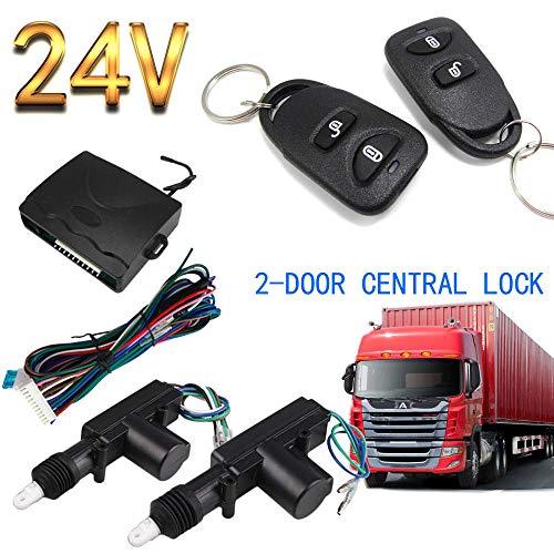 CONRAL Universal 24V Zentralverriegelung Verriegelungssystem Auto Fernbedienung Fahrzeugschlüsselloses Zugangssystem Für LKW 2 Tür