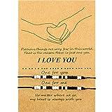 Pulsera Código Morse de San Valentín Regalo Pulsera de Familia Pareja de Amistad de I Love You (Cuentas Blancas y Negras)