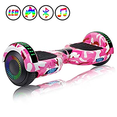 "jolege Hoverboard, 6.5"" Two-Wheel Self Balancing Hoverboards - LED Light Wheel Scooter for Kids Adult"