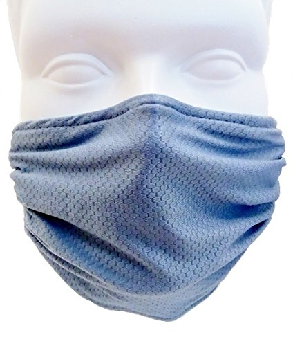 Comfy Mask - Elastic Strap Dust Mask - Lawn and Garden, Woodworking, Dust, Drywall and Sanding (Steel Blue)