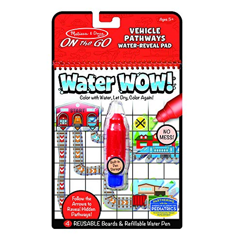 Melissa&Doug 40177 Water Wow Fahrzeug Pathways | Activity Pad | Reise | ab 3 Jahren | Geschenk für Jungen oder Mädchen
