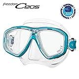 TUSA M-212 Freedom Ceos Scuba Diving Mask, Ocean Green