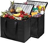 JY&WIN Bolsas de Compras Reutilizables, Plegables, Paquete de 2 Bolsas frigoríficas aisladas extragrandes, Bolsas frigoríficas extragrandes para picnics, acampadas, Nevera portátil, congelador aisl
