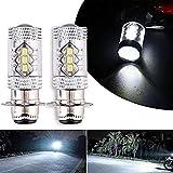 80W Super White LED Headlights Bulbs Upgrade - Yamaha ATVS YFM350 400 450 660 700 Raptor Blaster 200 Banshee 350