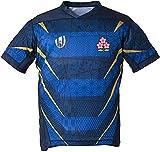 Maillot de Football de Compétition D'entraînement pour Hommes 2019 Équipe de La Coupe du Monde Japon Maillot de Rugby pour Hommes, T-Shirt Rugby Nouvelle Version Maillot De Rugby,Blue-Small