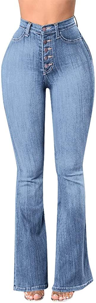MASZONE High Waisted Jeans for Women, Stretch Bootcut Jeans Flare Leg Bell Bottom Denim Pants Trendy Sexy Trousers